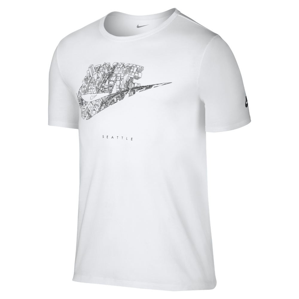 Nike Futura City (Seattle) Weiß  TShirt