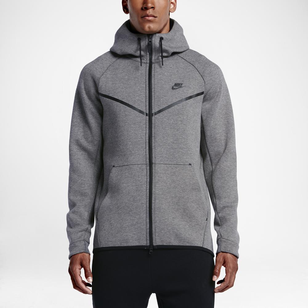 nike sportswear tech fleece windrunner men 39 s hoodie in gray for men lyst. Black Bedroom Furniture Sets. Home Design Ideas