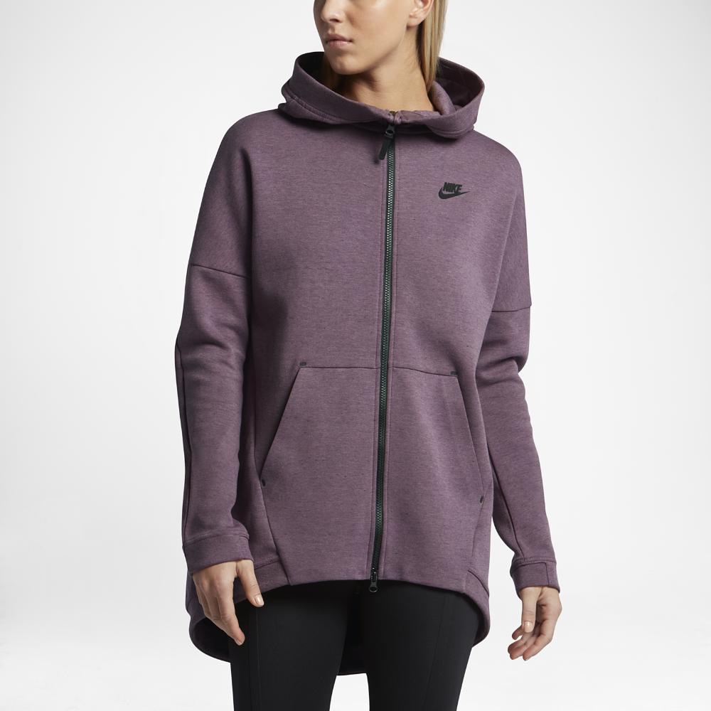 nike sportswear tech fleece women 39 s cape in purple lyst. Black Bedroom Furniture Sets. Home Design Ideas