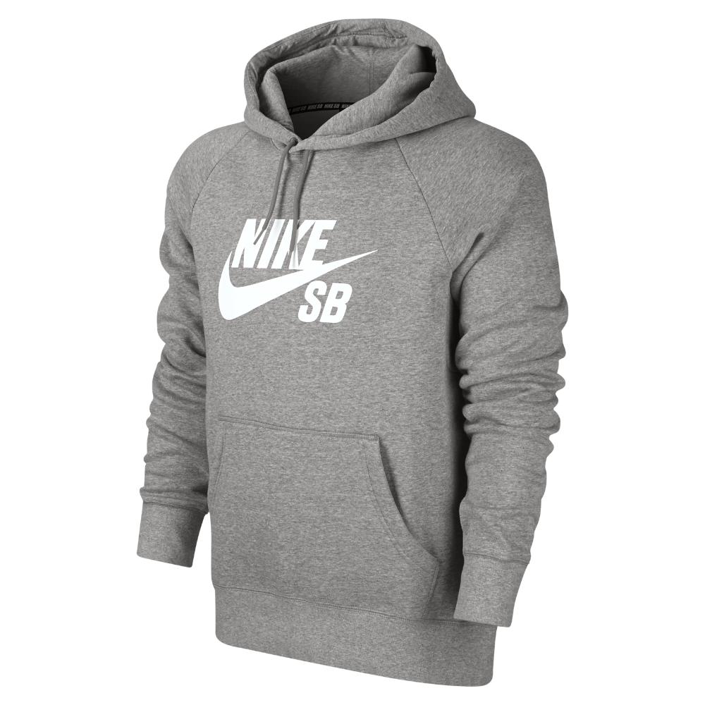 nike sb icon men 39 s hoodie in gray for men lyst. Black Bedroom Furniture Sets. Home Design Ideas