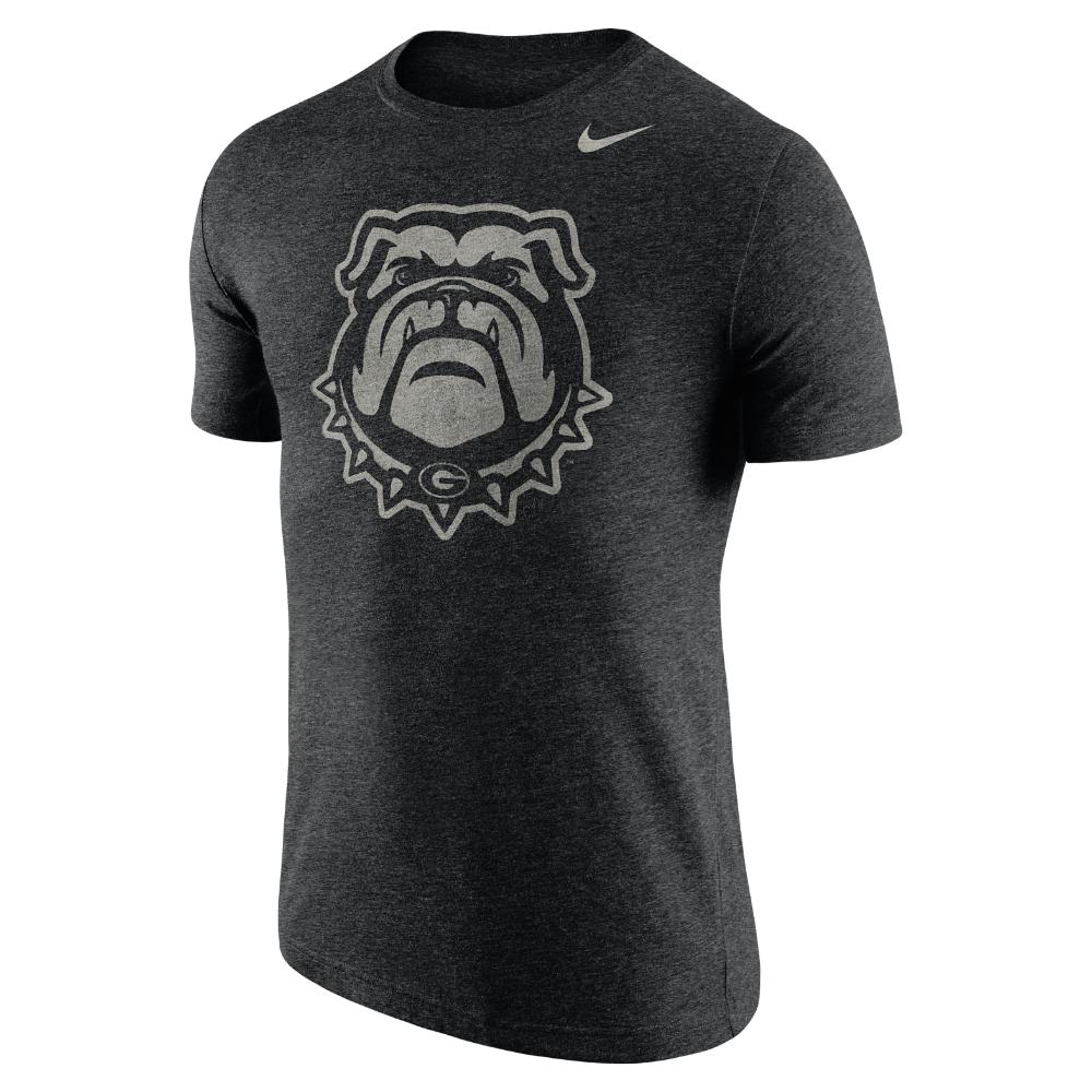 Nike College Tri Stamp Georgia Men 39 S T Shirt In Black