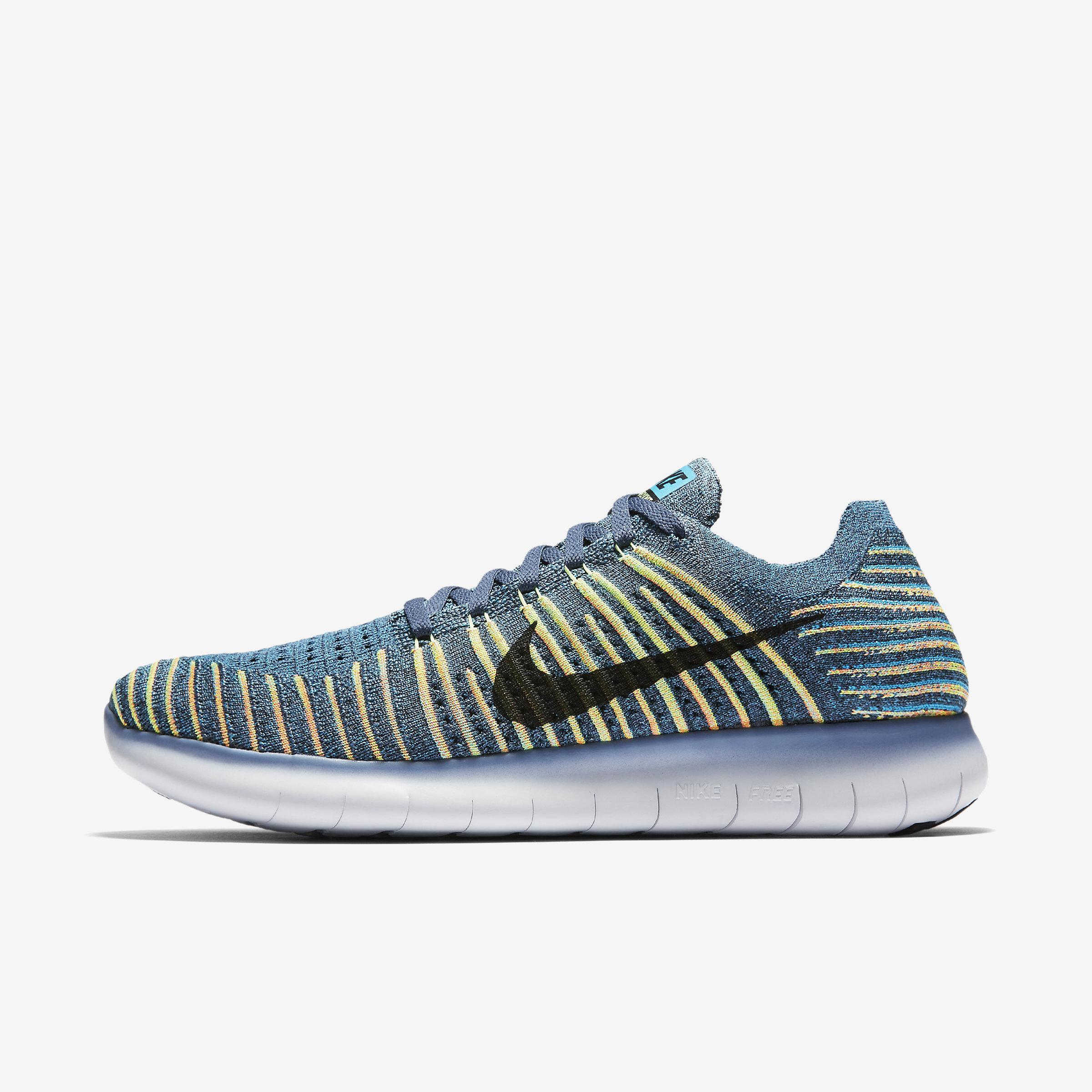 45c5b8058577 Nike Free Rn Flyknit in Blue for Men - Lyst