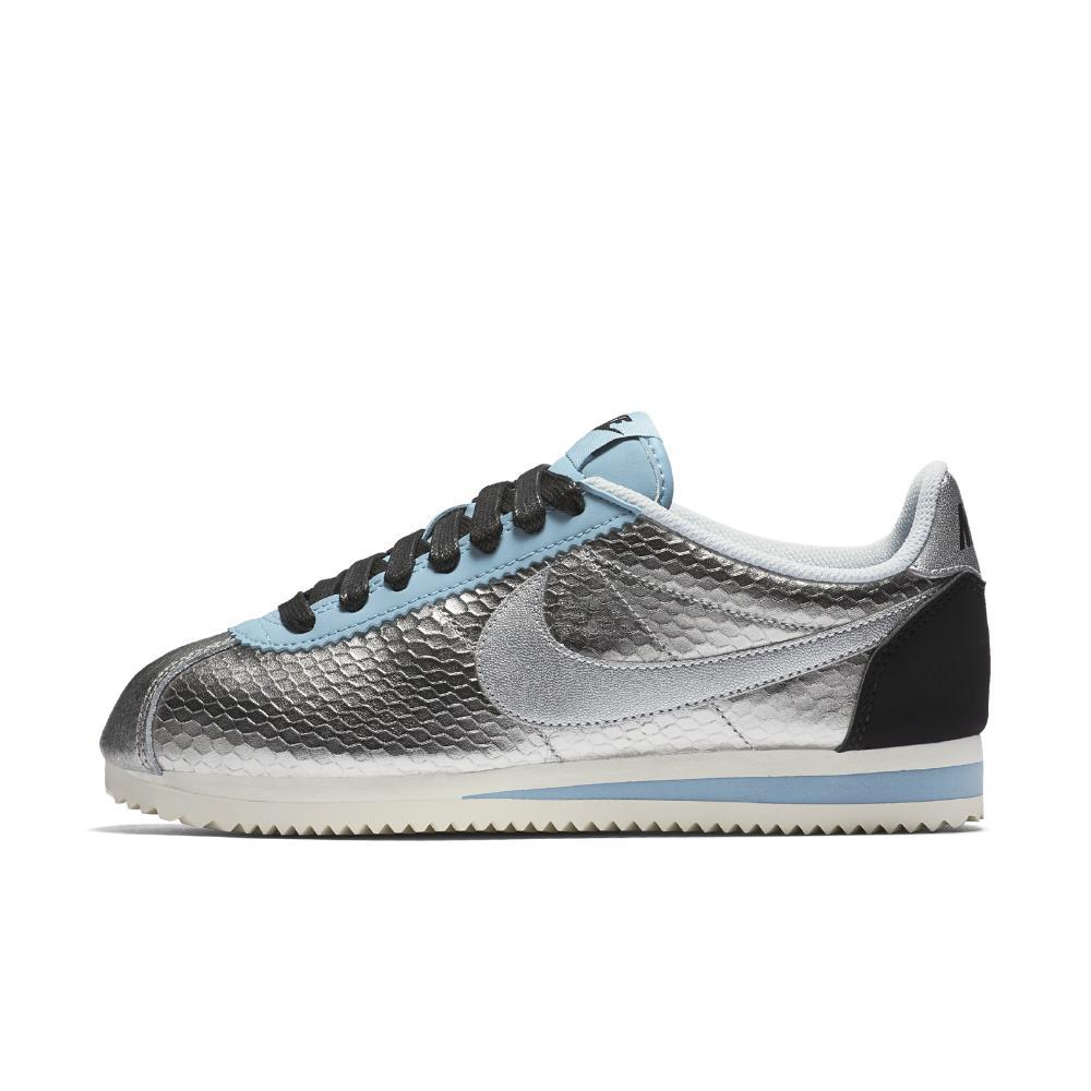 nike classic cortez leather premium women 39 s shoe in blue lyst. Black Bedroom Furniture Sets. Home Design Ideas
