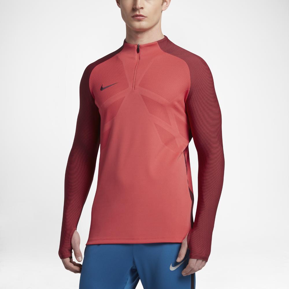 422761f63 Nike Strike Aeroswift Men s 1 4 Zip Soccer Drill Top in Red for Men ...