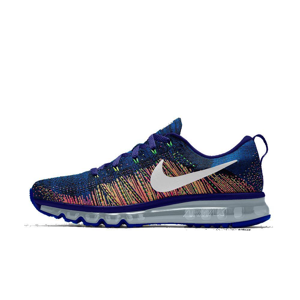 Nike flyknit air max blue