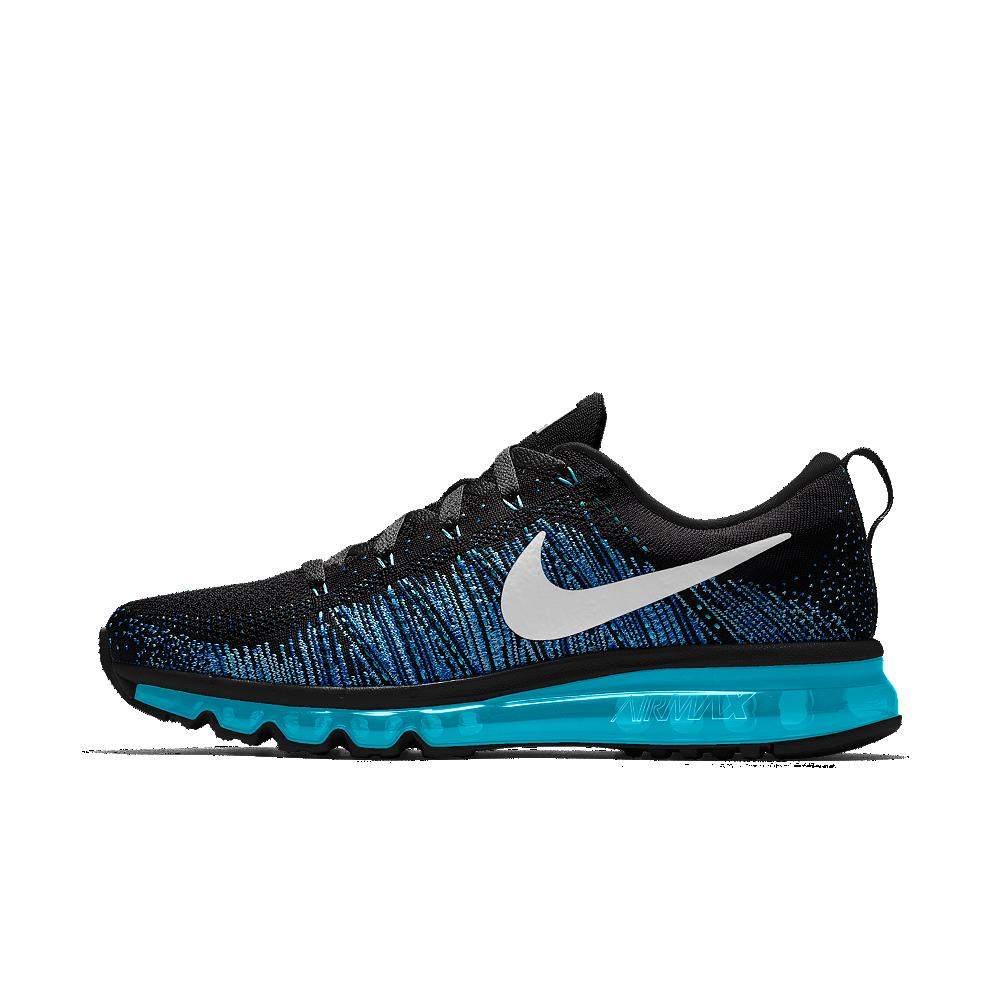 nike flyknit air max id s running shoe in white for