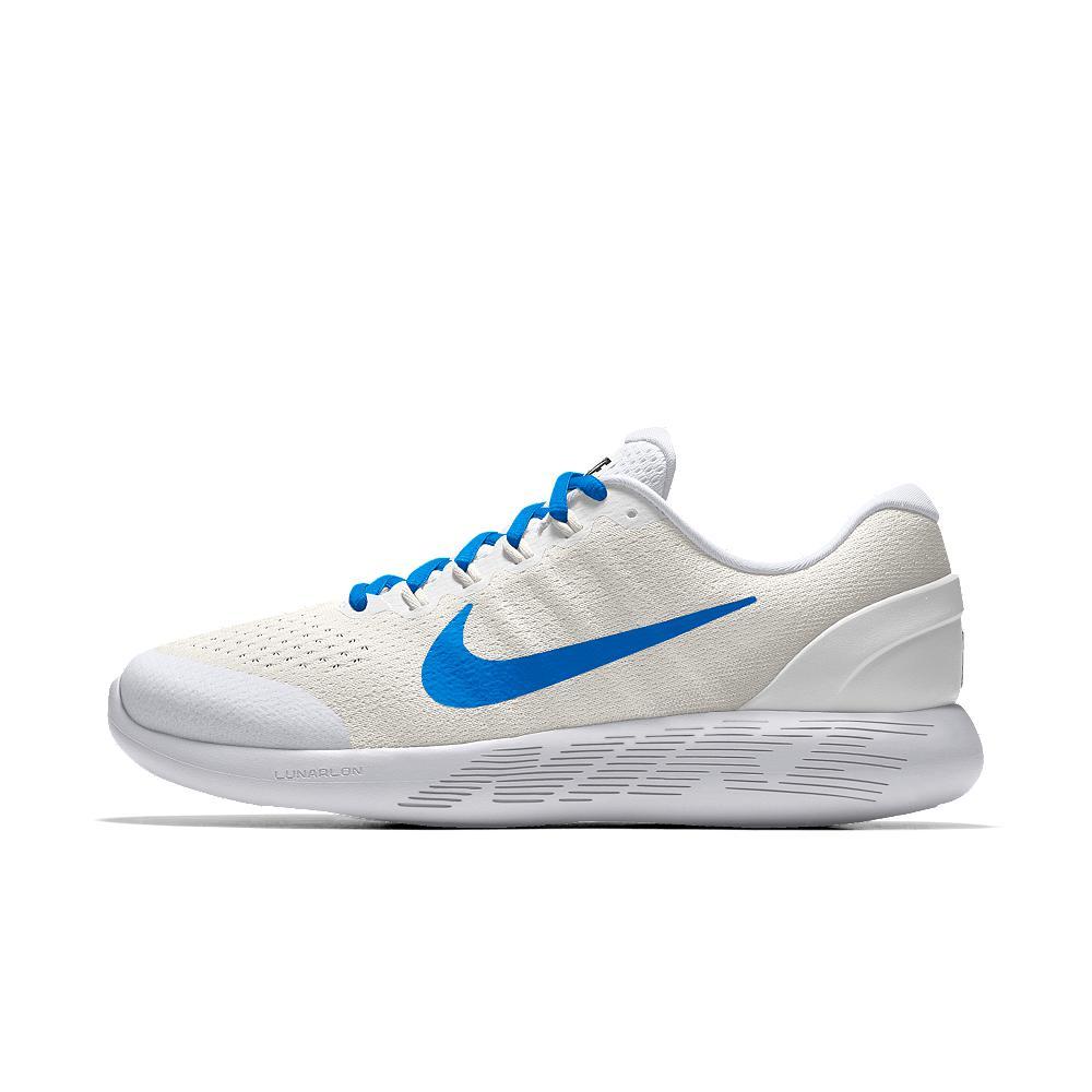 quality design d11b9 fc5e3 Nike Lunarglide 9 Id Women s Running Shoe in White - Lyst