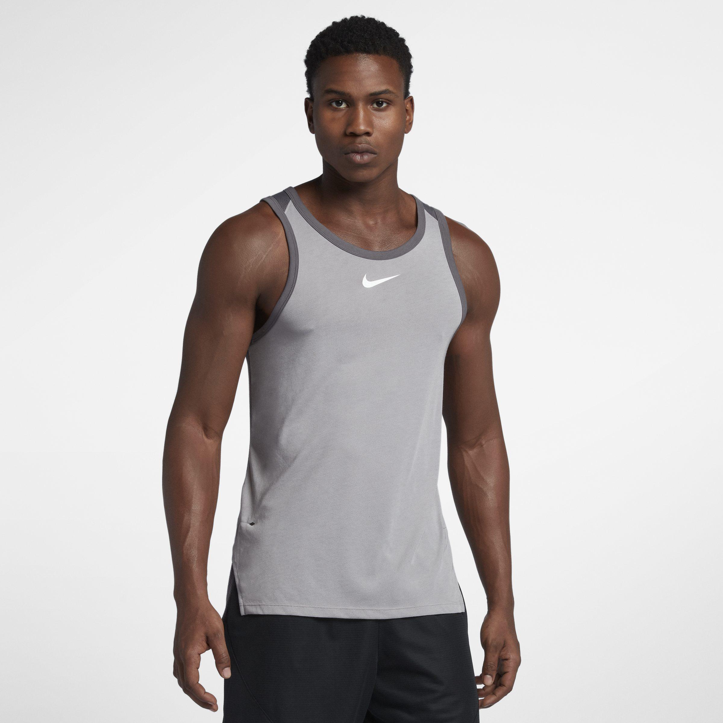 3906ef6b Nike Breathe Elite Sleeveless Basketball Top in Gray for Men - Lyst