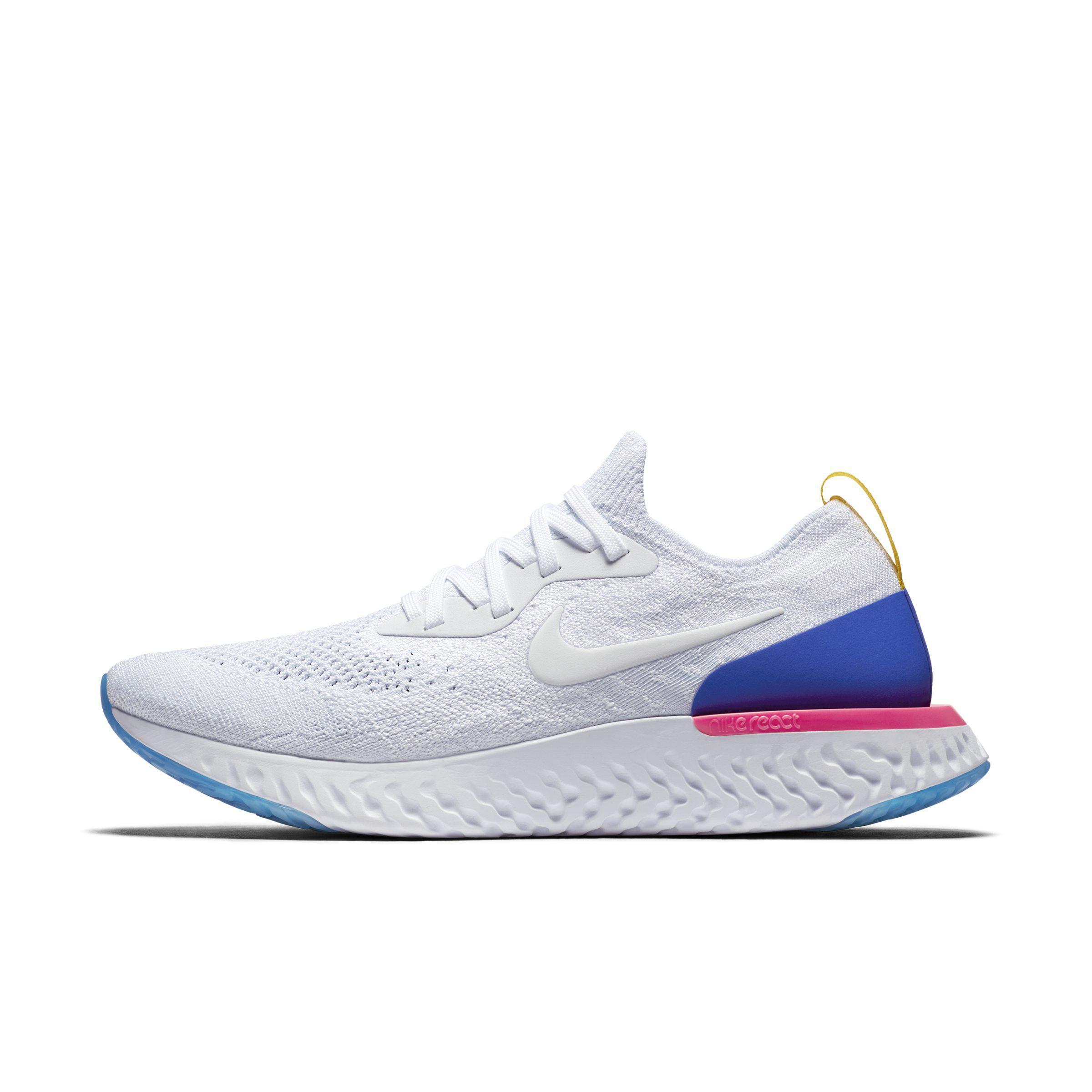51d5d0377144 Nike Epic React Flyknit Running Shoe in White for Men - Lyst