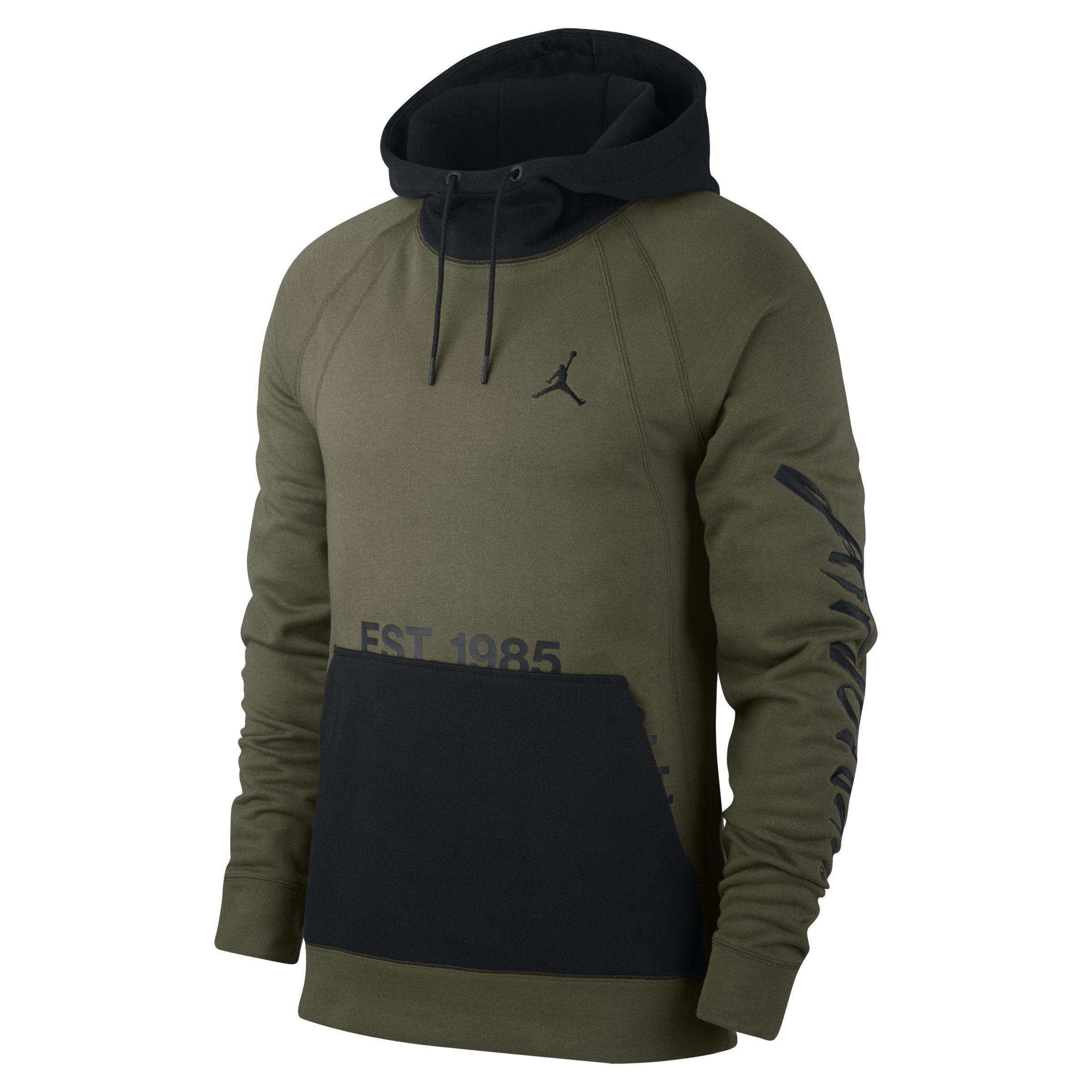d63d3a499b8203 Nike Jordan Sportswear Greatest Fleece Pullover Hoodie in Green for ...
