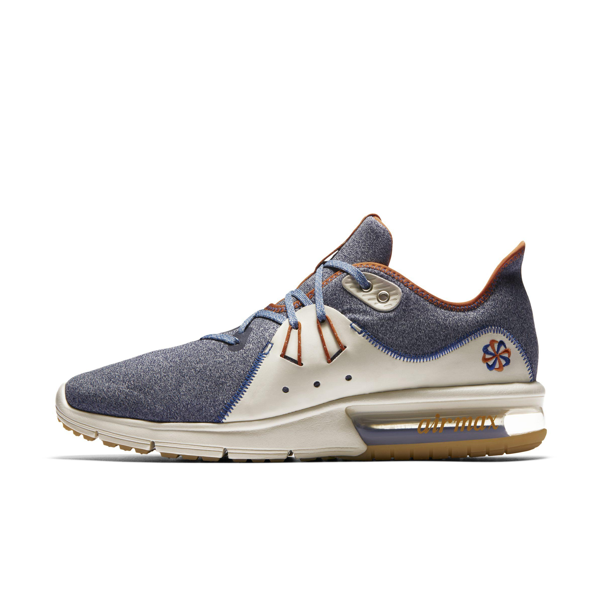 fd8ae13c46bd Nike Air Max Sequent 3 Premium Vst Running Shoe in Blue for Men - Lyst