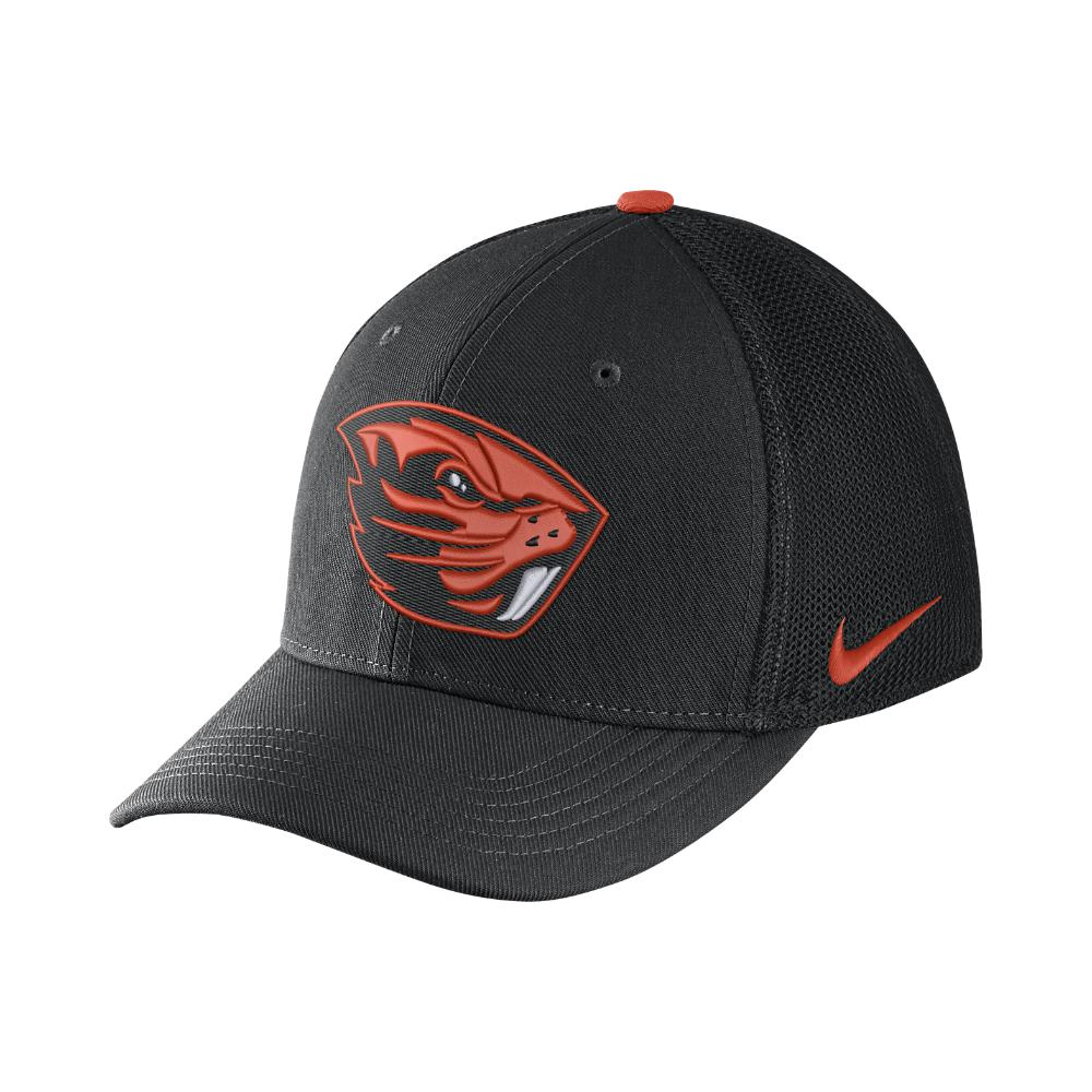 sports shoes 44cf1 dc55a ... usa lyst nike college classic 99 swoosh flex oregon state fitted hat  6aded c6229