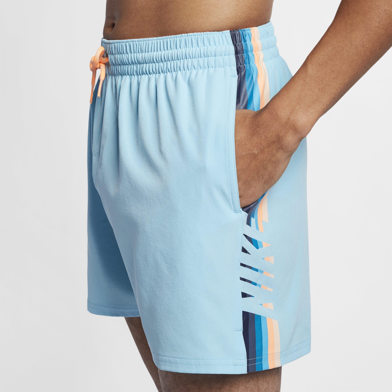 8d42c199cd33 Nike Swim Retro Stripe Lap 13cm (approx.) Swimming Trunks in Blue ...