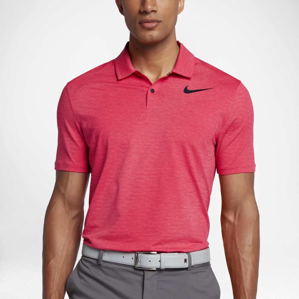 256328aa74 Nike Tw Dry Blur Stripe Men's Standard Fit Golf Polo Shirt in Red ...