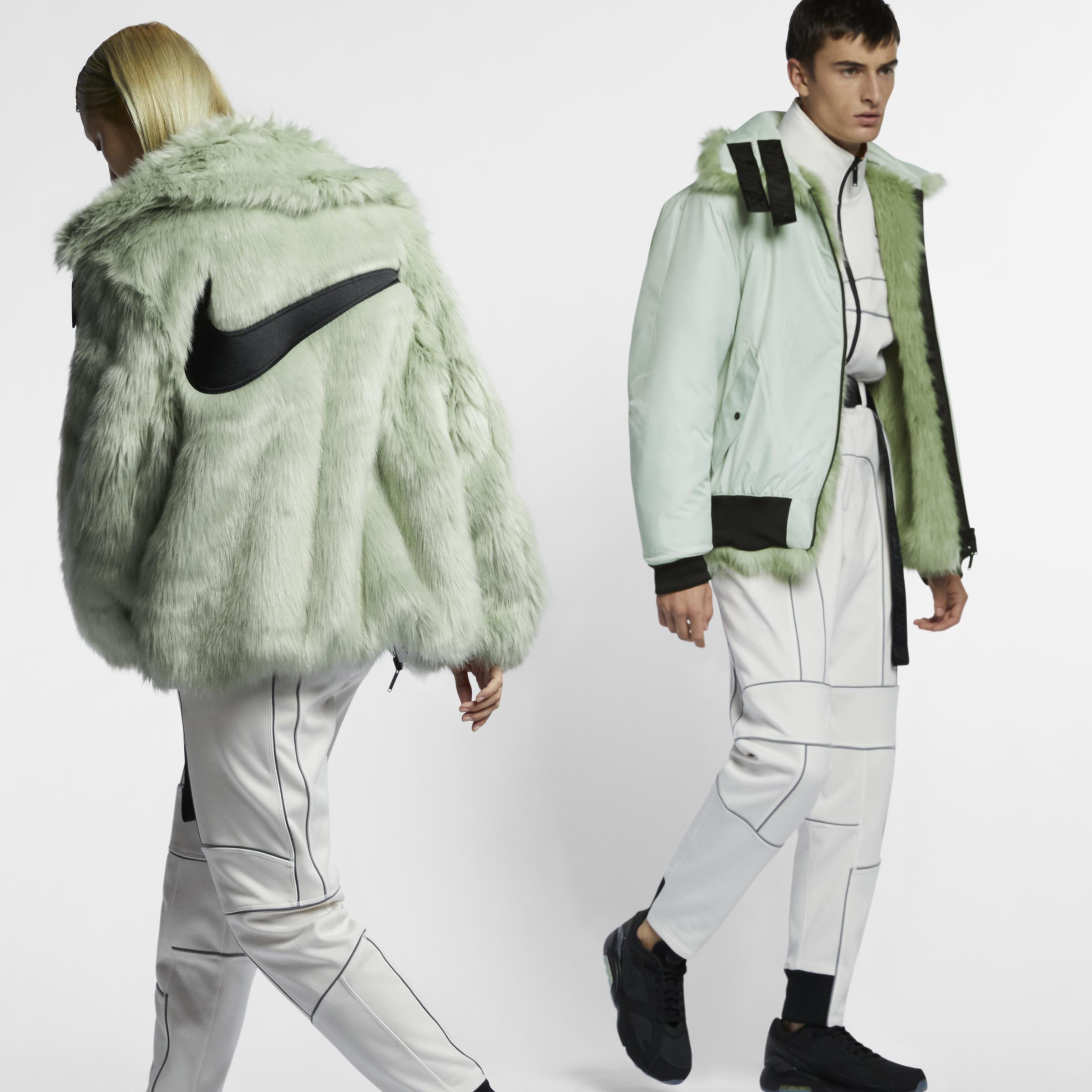 Nike Multicolor X Ambush wendbarer Damen Kunstpelzmantel
