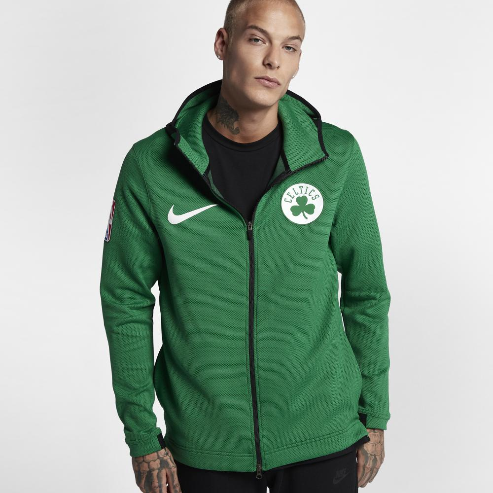 Lyst - Nike Boston Celtics Therma Flex Showtime Hoodie in Green for Men 15b507ded83