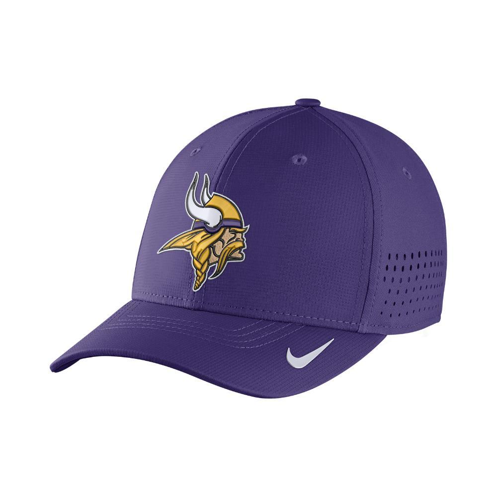 1f76f2bfd Lyst - Nike Swoosh Flex (nfl Vikings) Fitted Hat in Purple for Men