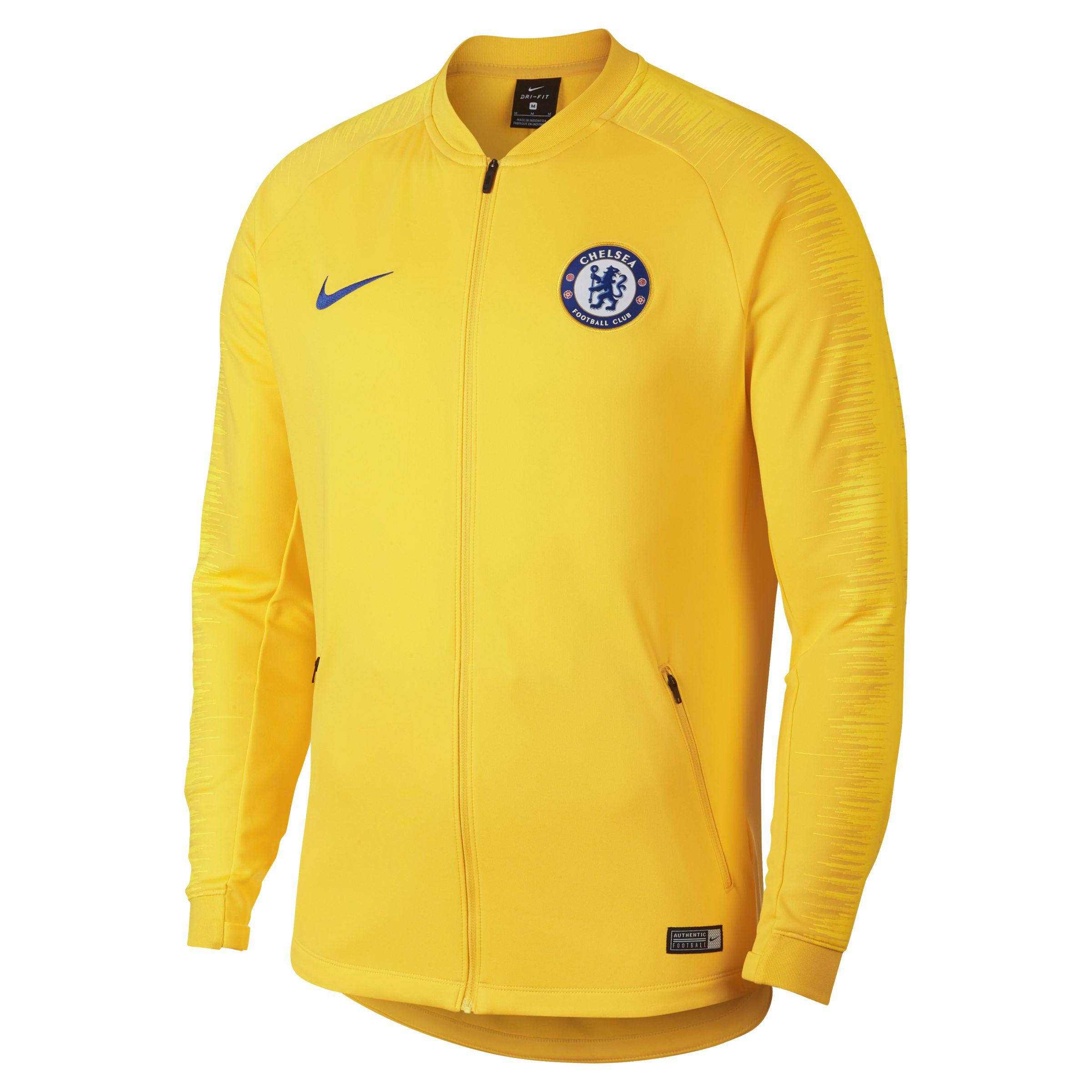 d484f97ea Nike Chelsea Fc Anthem Football Jacket in Yellow for Men - Lyst