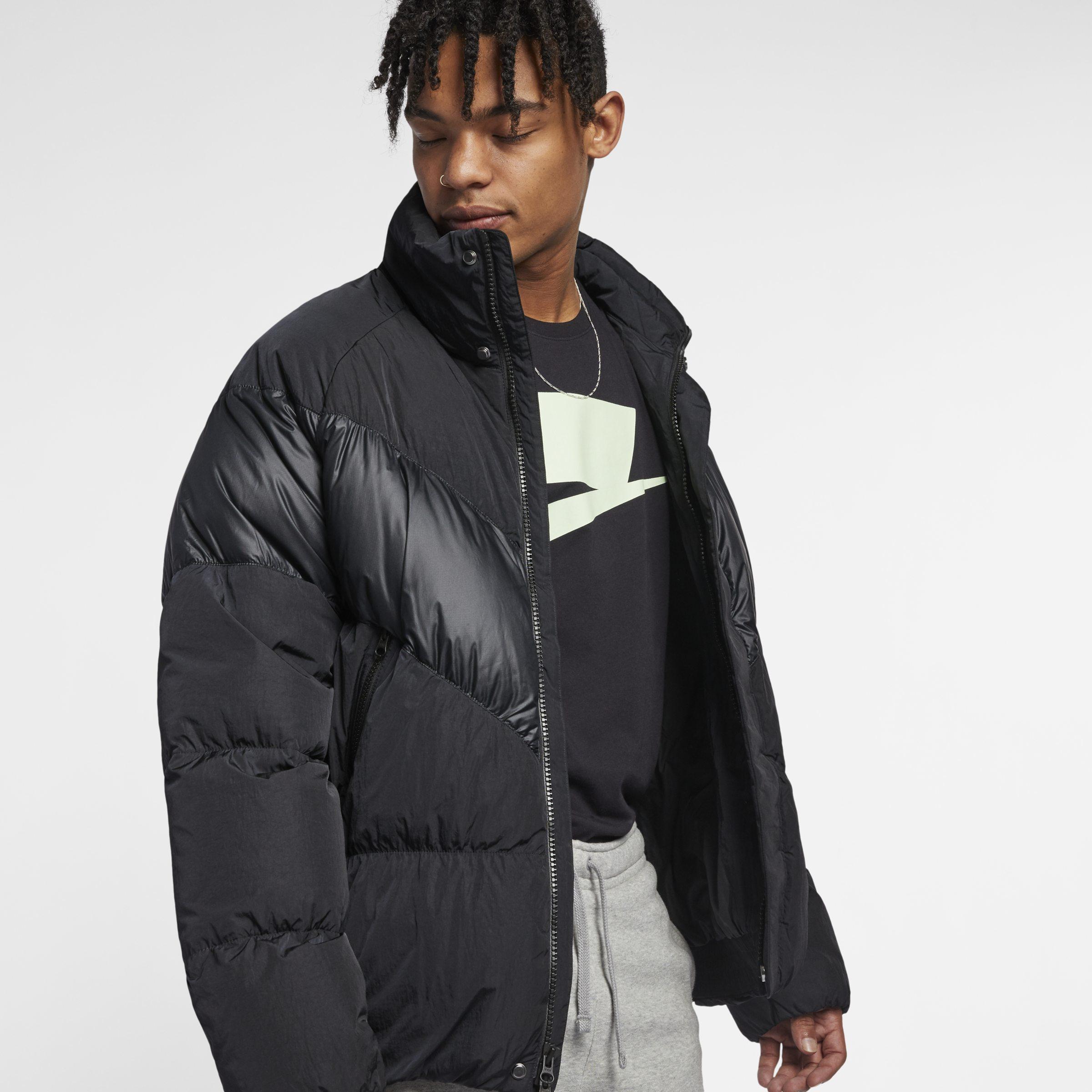 3f27610dac629a Nike Sportswear Down-fill Jacket in Black for Men - Lyst