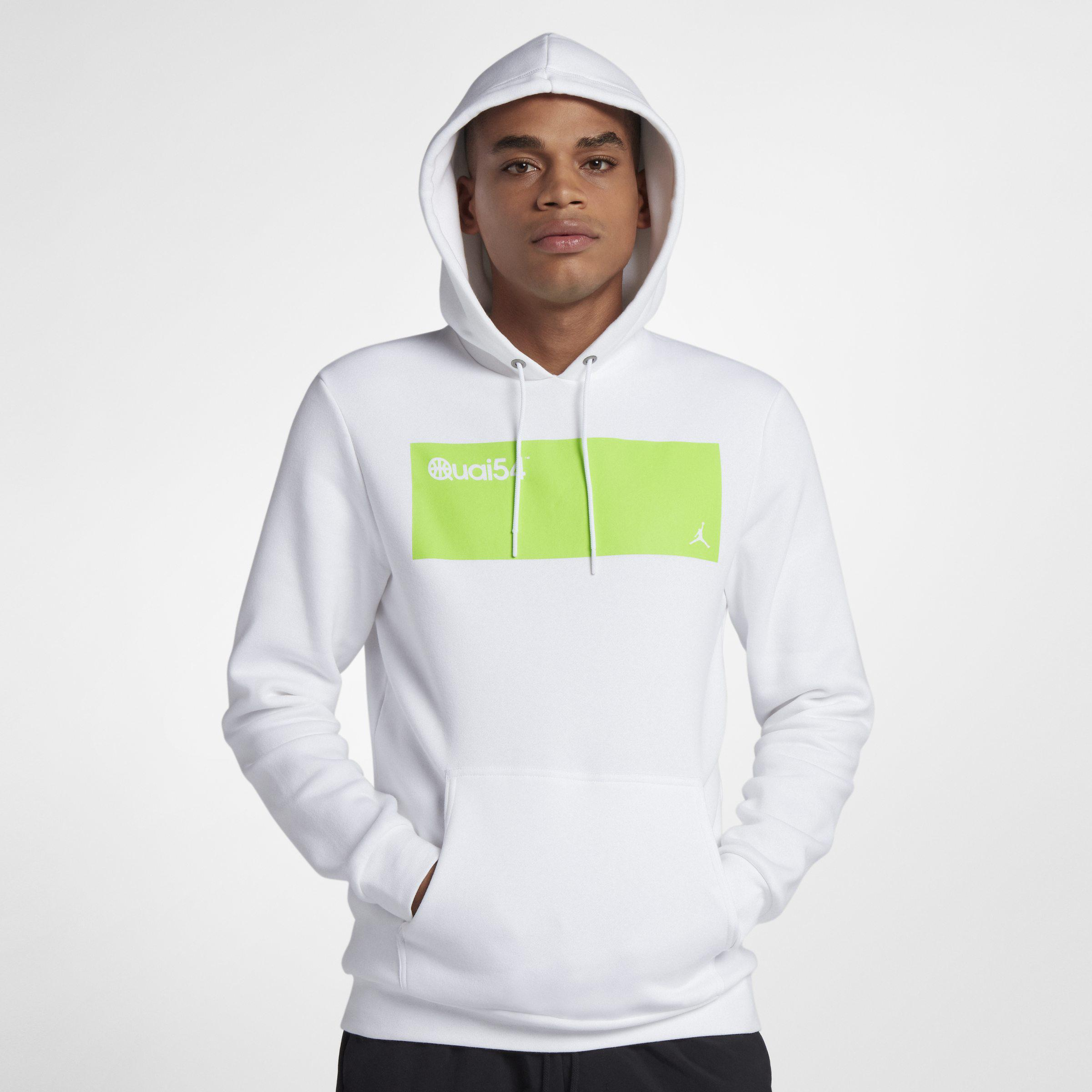 7b554bc47ef9 Nike Jordan Sportswear Quai 54 Fleece Pullover Hoodie in White for ...