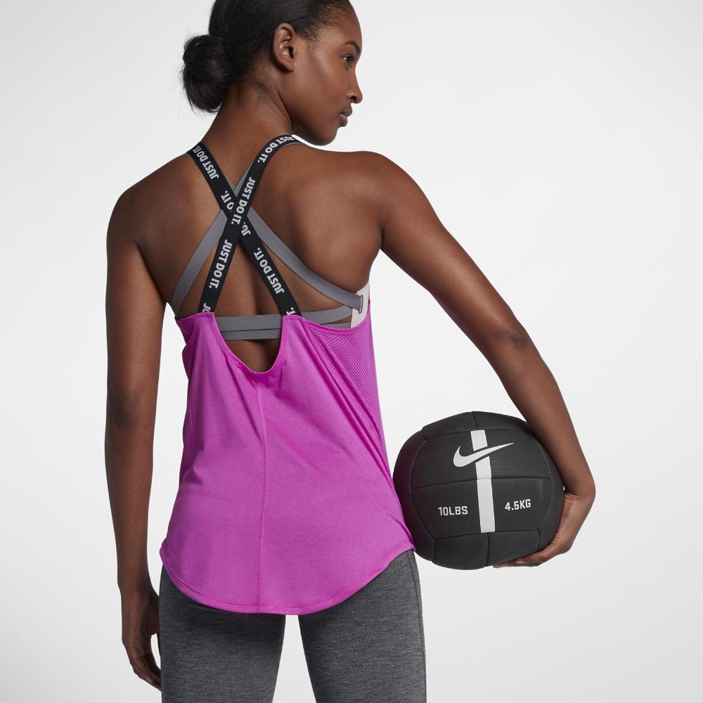 8859af0a36c6c Lyst - Nike Dri-fit Elastika Women s Training Tank Top in Purple