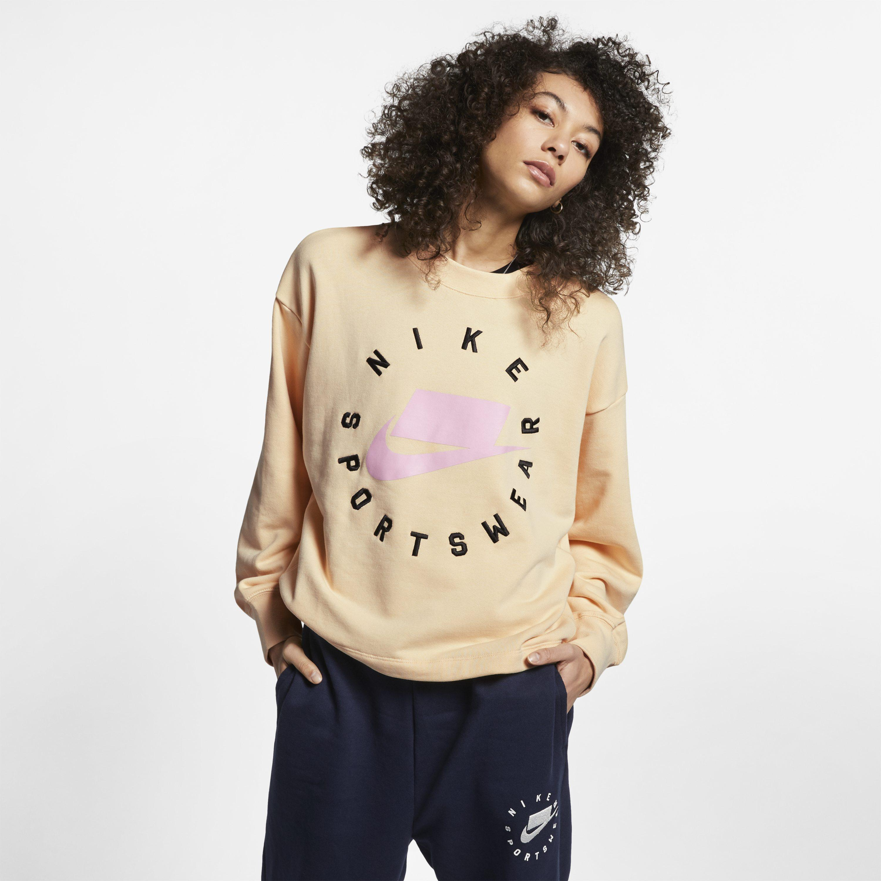 66ea043c787873 Nike Sportswear Nsw French Terry Crew in Natural - Lyst