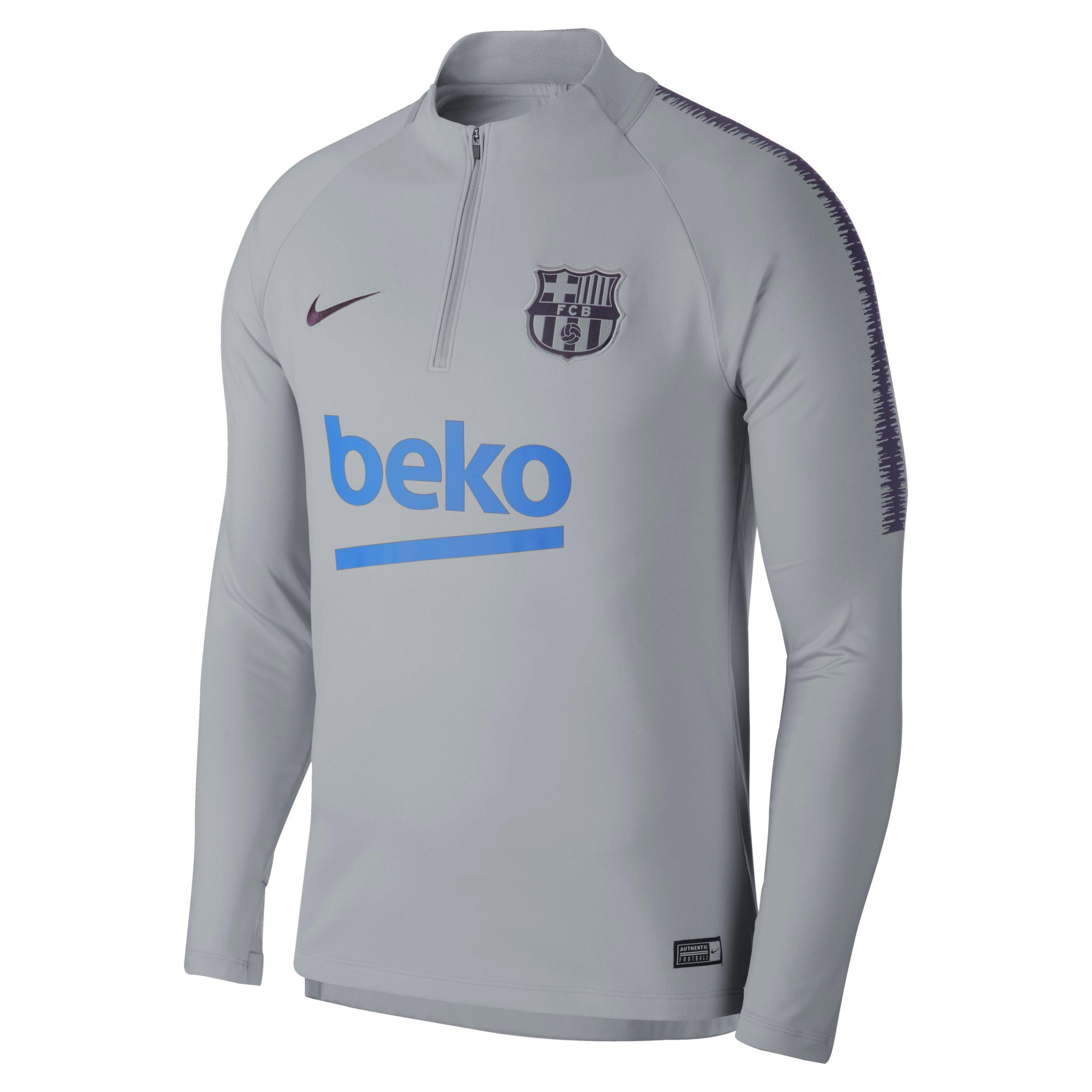 ae66ee080 Nike Fc Barcelona Dri-fit Squad Drill Long-sleeve Football Top in ...