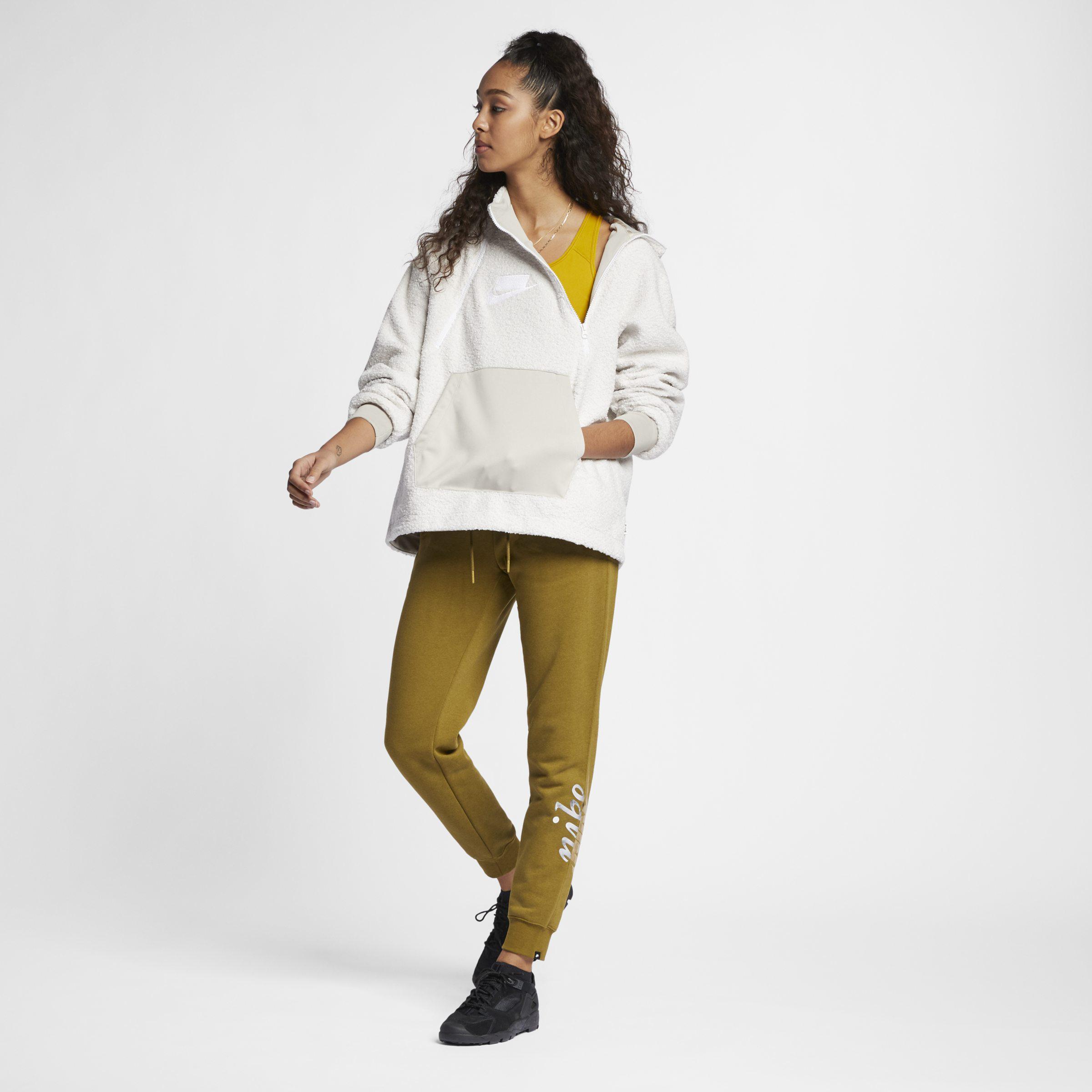 new styles d4512 95fb6 Nike Sportswear Nsw Pullover Sherpa Hoodie - Lyst
