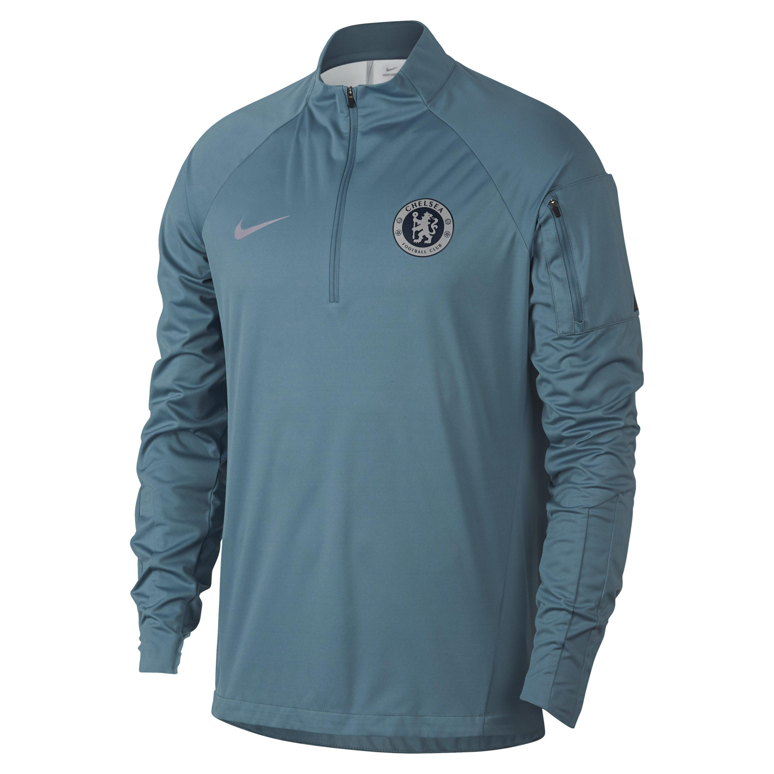c4f38210d Nike Chelsea Fc Shield Squad Football Drill Top in Blue for Men - Lyst