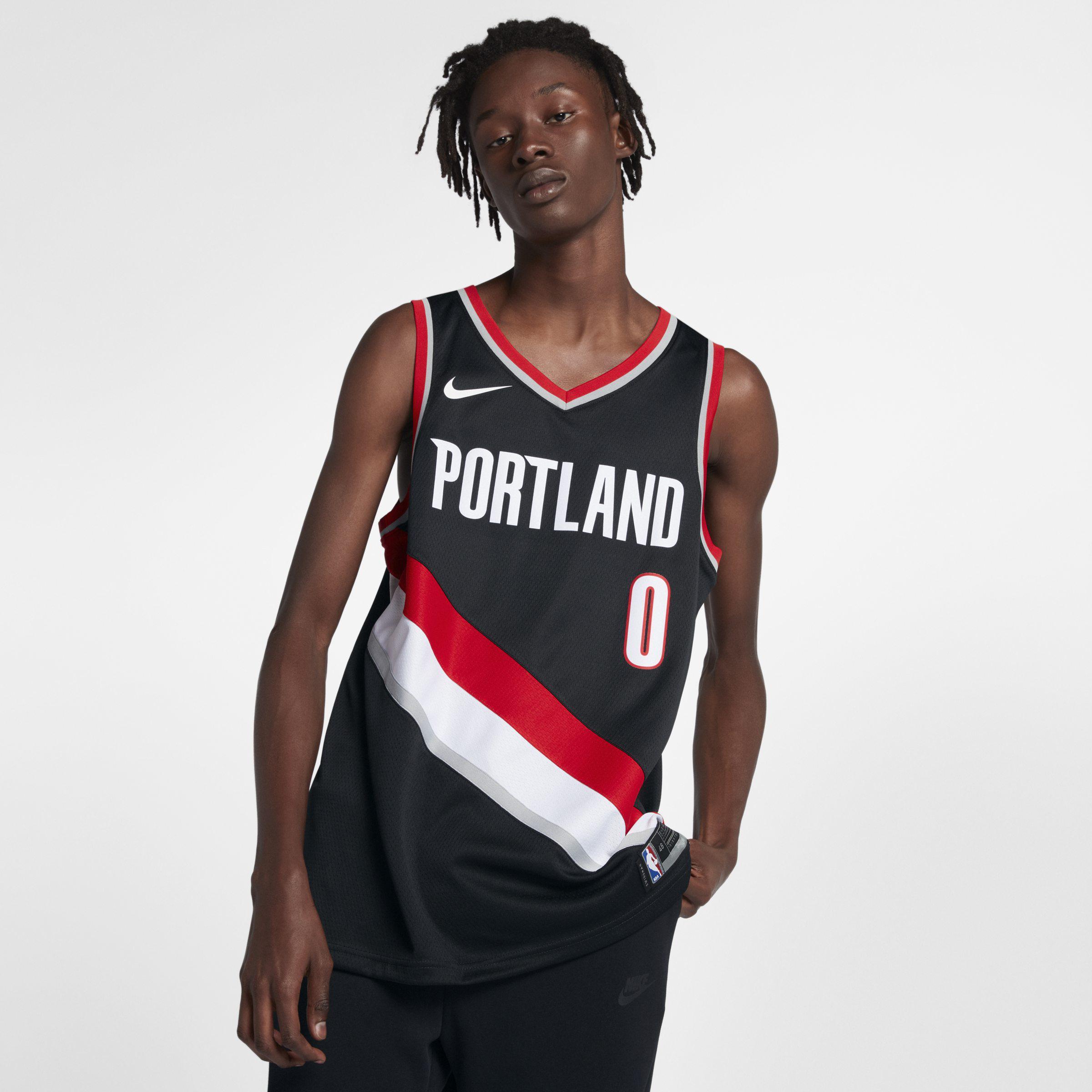 Nike. Men s Black Damian Lillard Icon Edition Swingman (portland Trail  Blazers) Nba Connected Jersey 2847af785