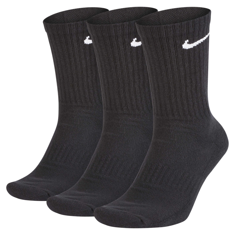 2a6db0b3fdbc Nike 3pk Cotton Cushion Crew in Black for Men - Lyst