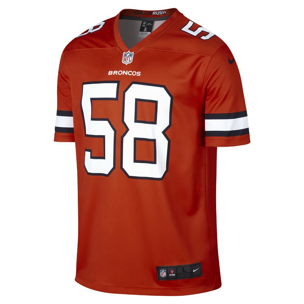 a1f418ae8 Lyst - Nike Nfl Denver Broncos Color Rush Legend (von Miller) Men s ...