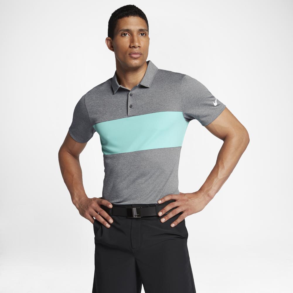 678dc6737 Lyst - Nike Breathe Color Block Men s Standard Fit Golf Polo Shirt ...