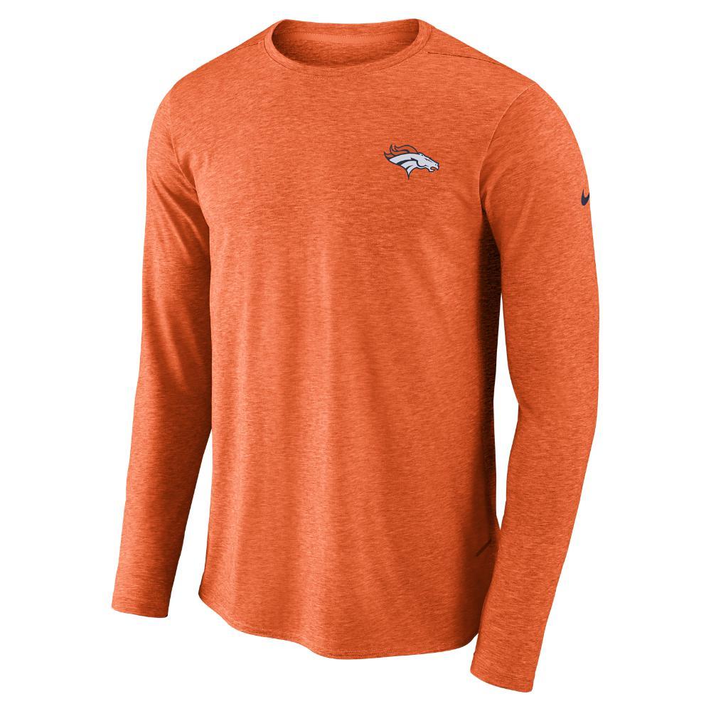 4a2124b143d7 Nike. Orange Dri-fit Coach (nfl Broncos) Men s Long Sleeve Football Top