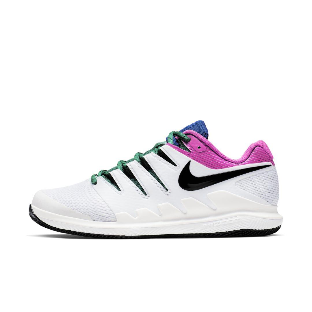 buy online ef310 af0bb Nike. Men s White Court Air Zoom Vapor X Hard Court Tennis Shoe