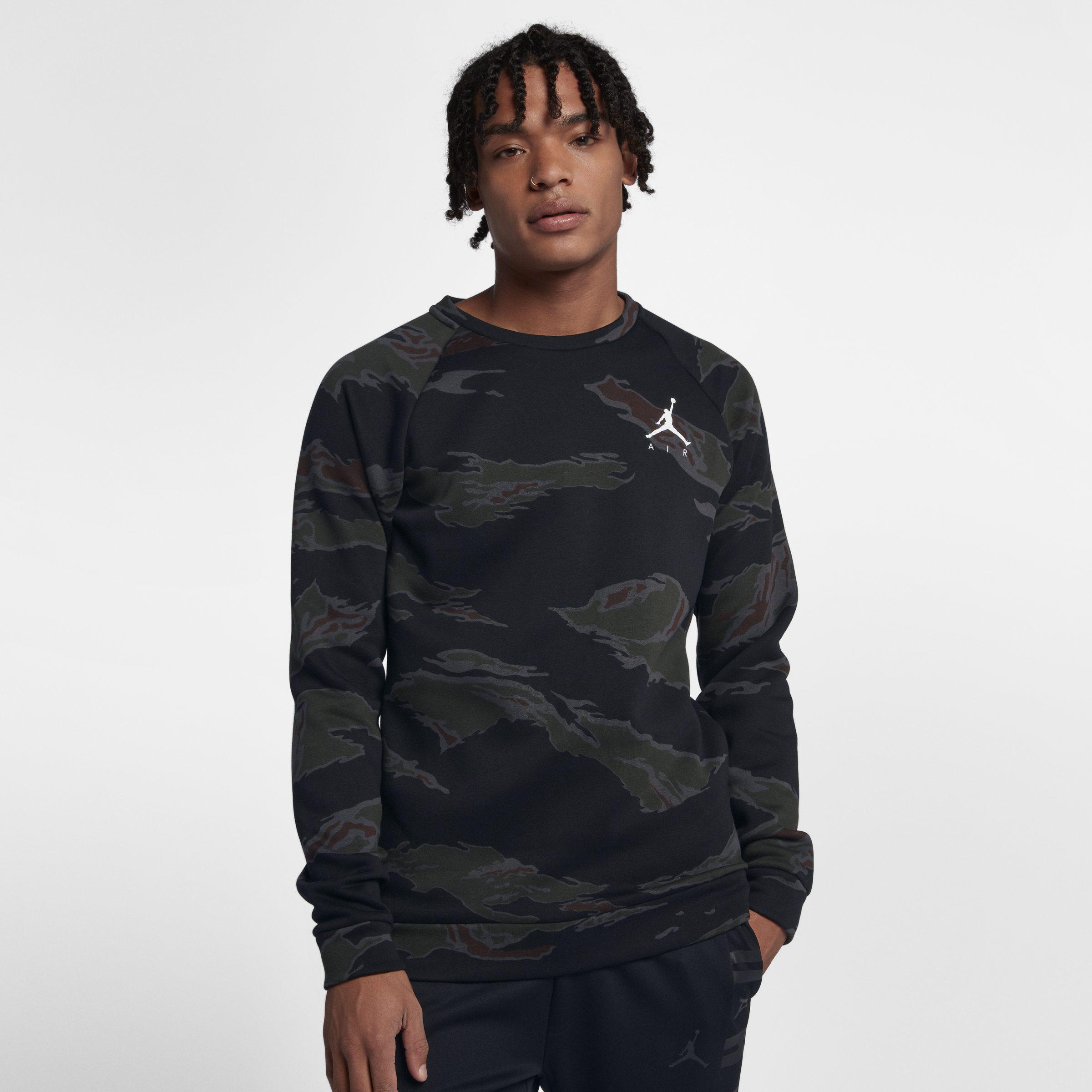 e25d33422ea613 Nike Jumpman Camo Fleece Pullover in Black for Men - Lyst