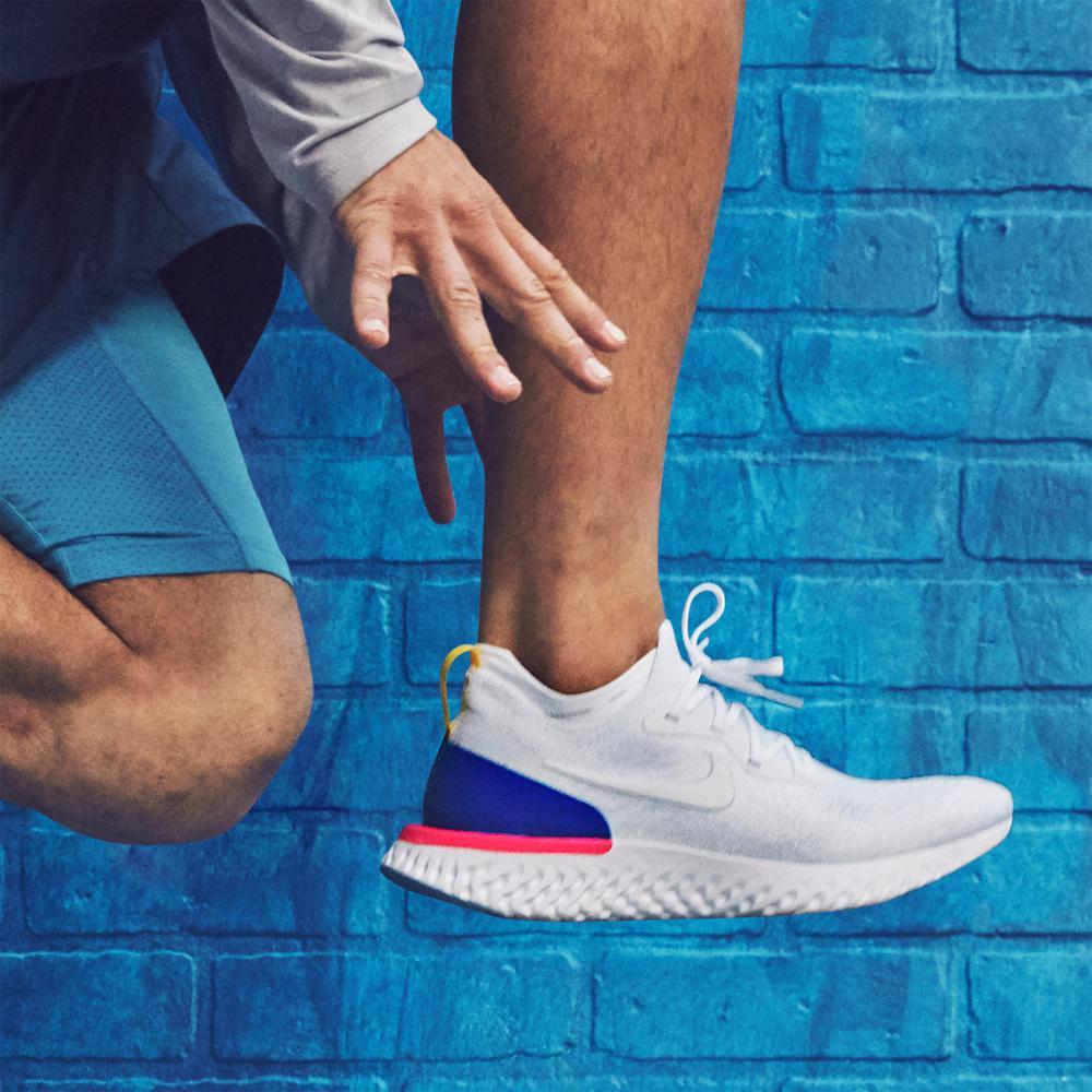 b4376f86d3c0b Lyst - Nike Epic React Flyknit Men s Running Shoe in Blue for Men