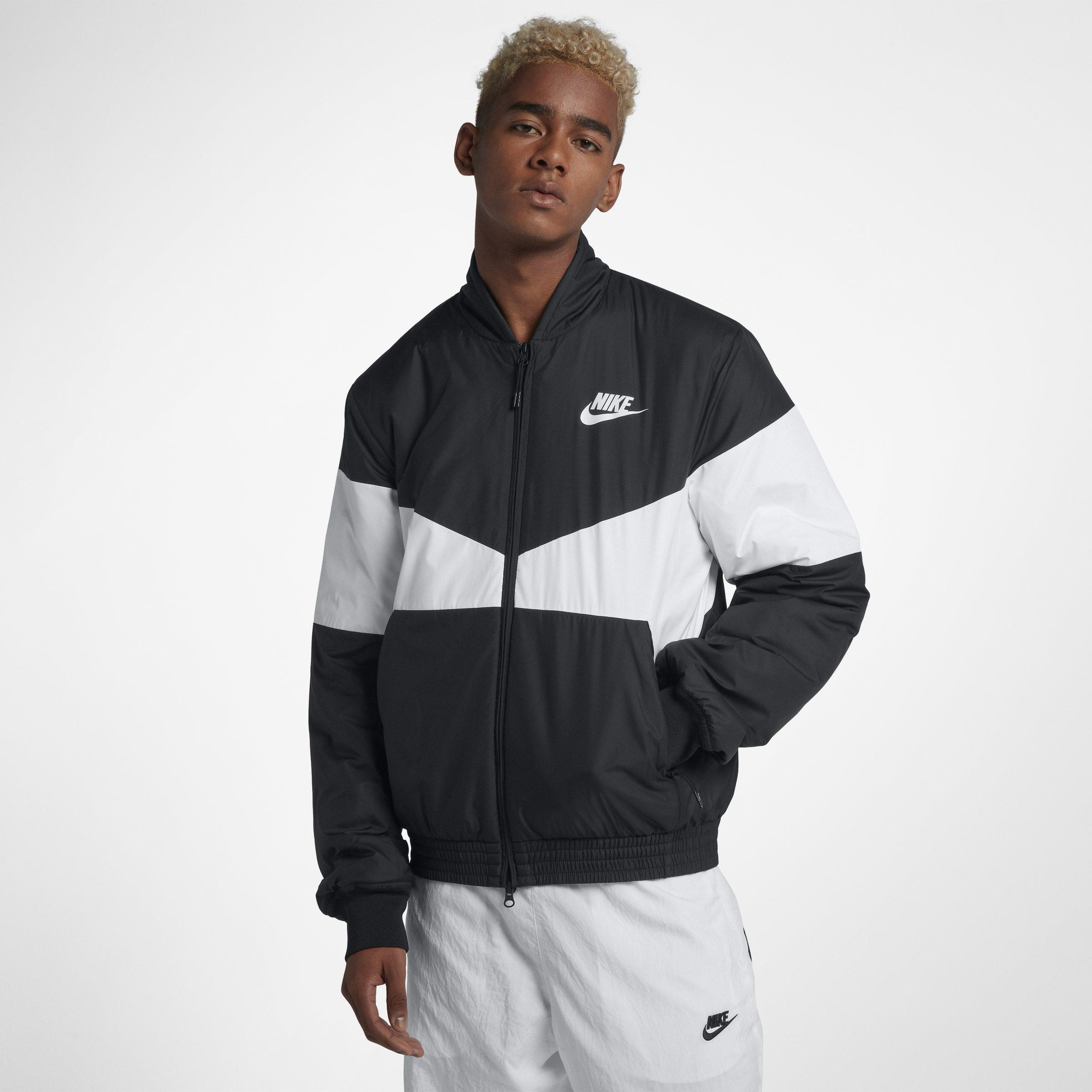 07a68d136e3ed Nike Sportswear Synthetic Fill Graphic Bomber Jacket in Black for ...