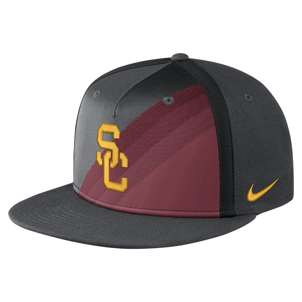 new style 98d78 5aa09 cheapest usc trojans bar hat b7c78 3ab09  usa lyst nike college true champ usc  adjustable hat black for men 11dc2 490c4
