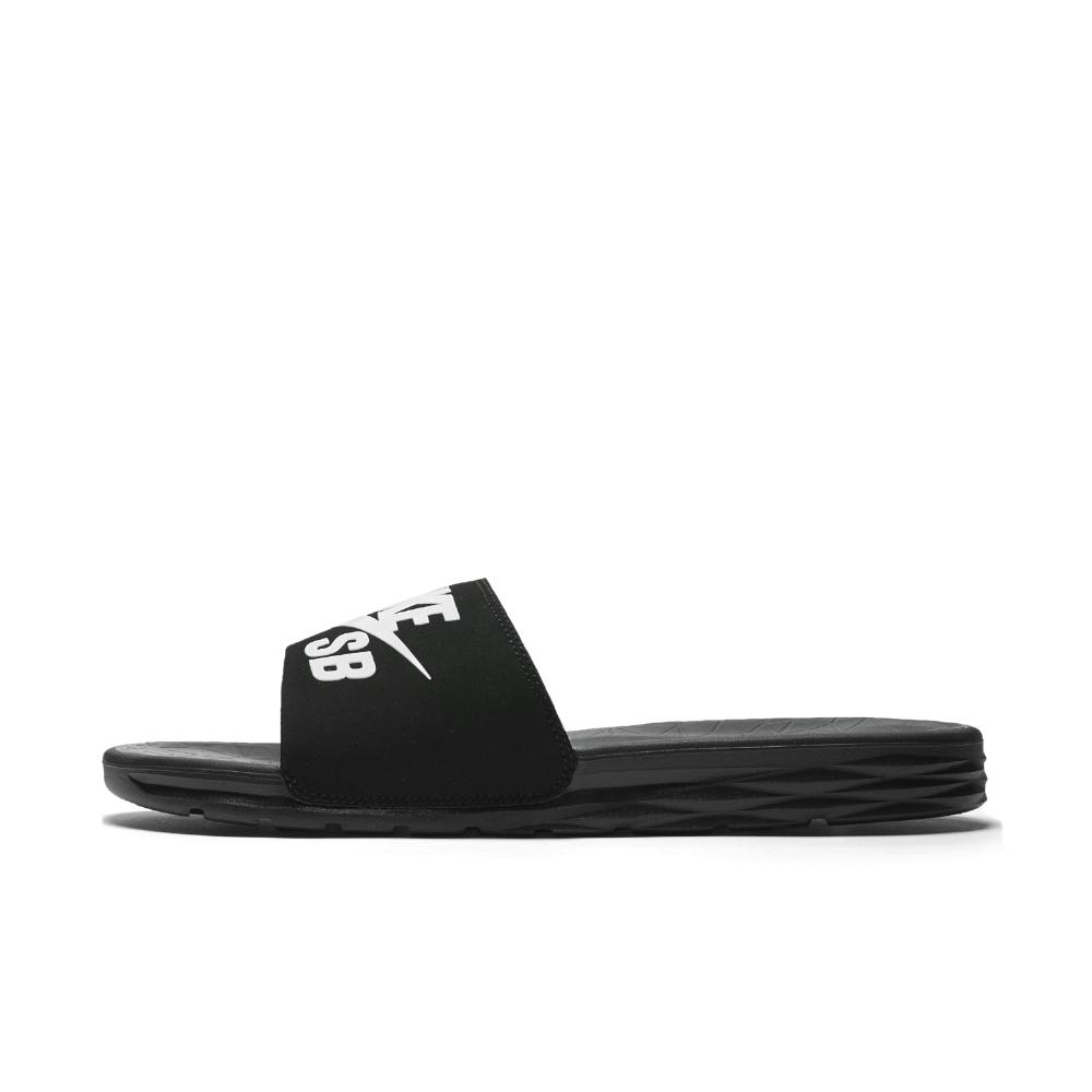 21a6d697916522 Lyst - Nike Sb Benassi Solarsoft Men s Slide in Black for Men