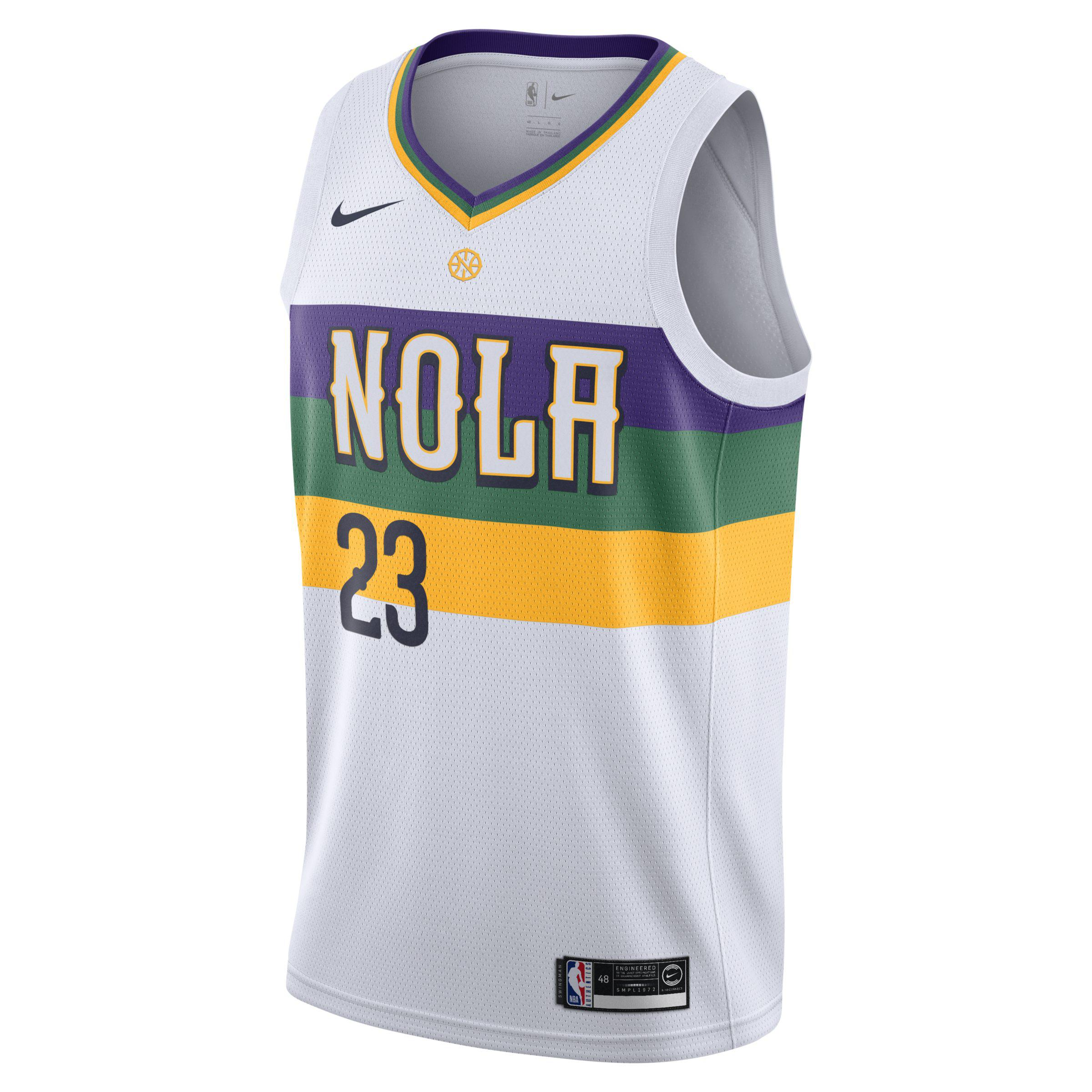 23a6f62a1 ... spain nike. mens white anthony davis nba city edition swingman new  orleans pelicans nba connected