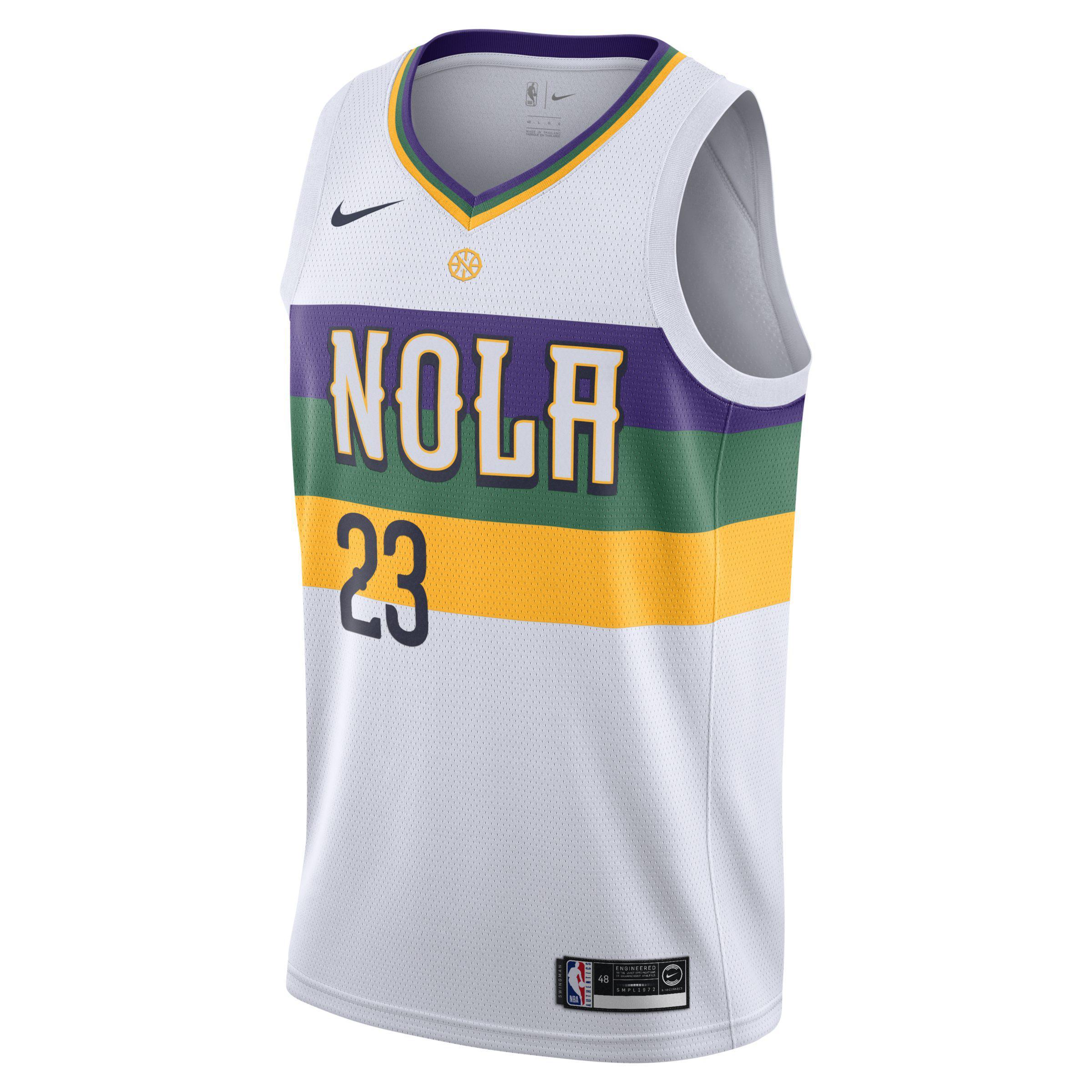 Nike. Men s White Anthony Davis (nba) City Edition Swingman (new Orleans  Pelicans) ... 2f5a0879e