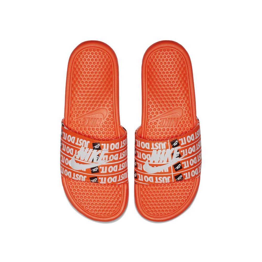 6008a9f156c8 Nike - Orange Benassi Just Do It Print Men s Slide Sandal for Men - Lyst.  View fullscreen