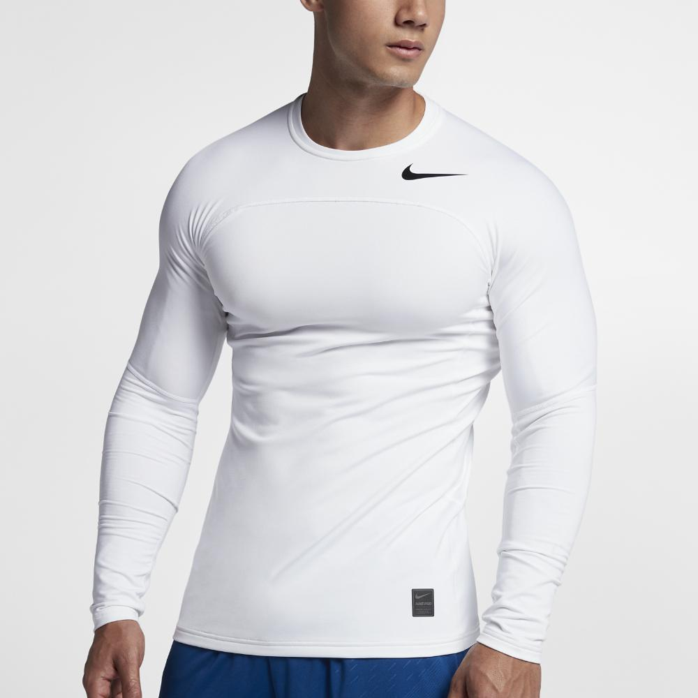 4c778695 Nike Pro Warm Fitted Mock Mens Long Sleeve Shirt