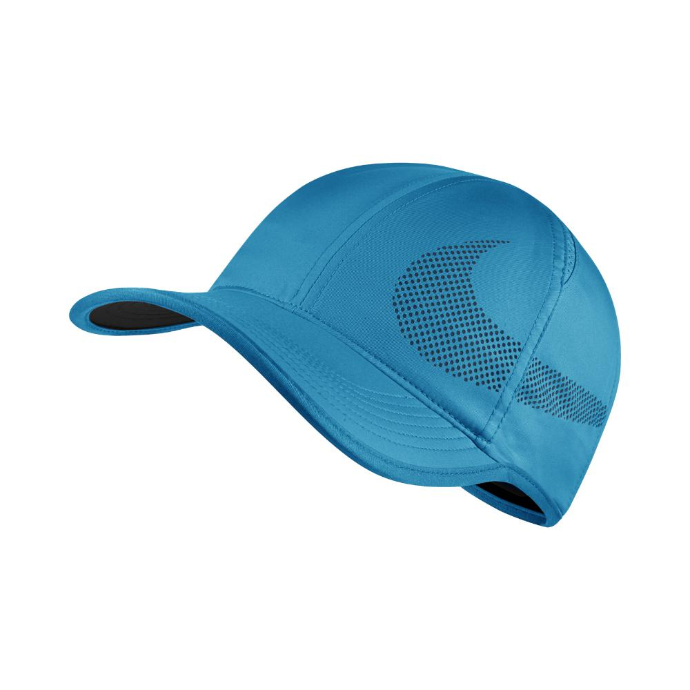 7bbea9f03ec68 Lyst - Nike Court Aerobill Featherlight Adjustable Tennis Hat (blue ...