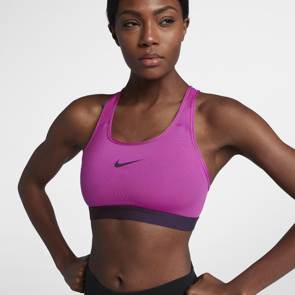 b57728ec5c Lyst - Nike Classic Padded Women s Medium Support Sports Bra in Purple
