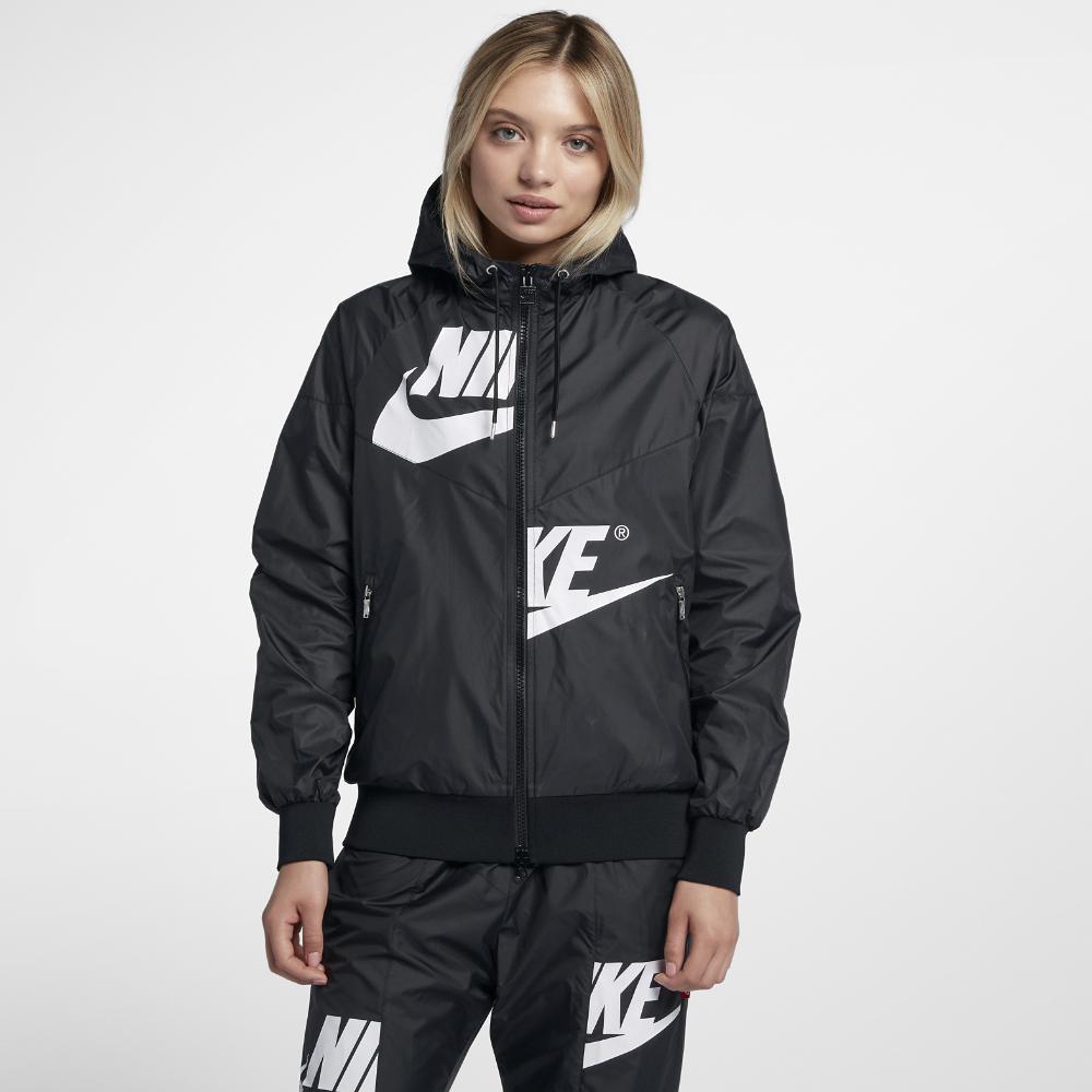 bb3edc18ea1d Lyst - Nike Sportswear Windrunner Women s Jacket in Black
