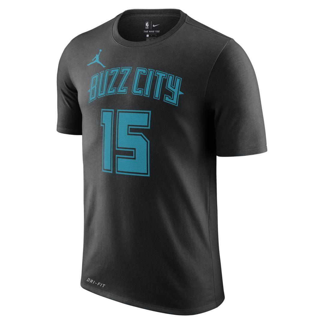44c0b57bed4 Nike. Men s Black Kemba Walker Charlotte Hornets City Edition Jordan Dri-fit  Nba T-shirt