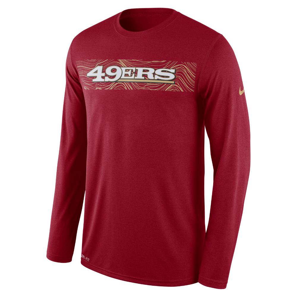 Lyst - Nike Dri-fit Legend Seismic (nfl 49ers) Men s Long Sleeve T ... a6c772fd5