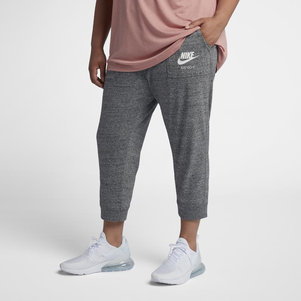 25816430ba83c Lyst - Nike Sportswear Gym Vintage Women's Capri Pants (plus in Gray